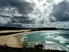 Fraser Island - Beaches : Lotsa beach you can't swim in (sharks).  75 miles of it, in fact.